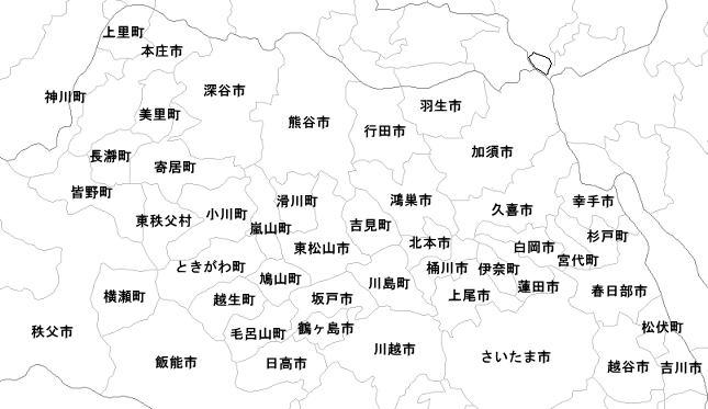 粗大ゴミ回収 庭木伐採 出張エリア / 埼玉県の北部へ伺います。